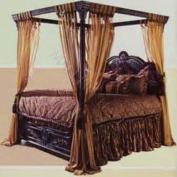 Queen Size Canopy Bed Curtains by Old World Egyptian Style Black Canopy Bed