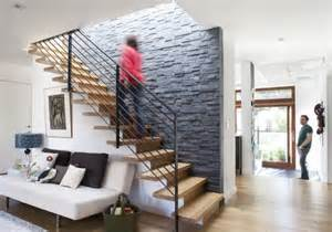Deco Mur Escalier Maison by Stone Wall Trends Split Face And Bookmatch Interior Design