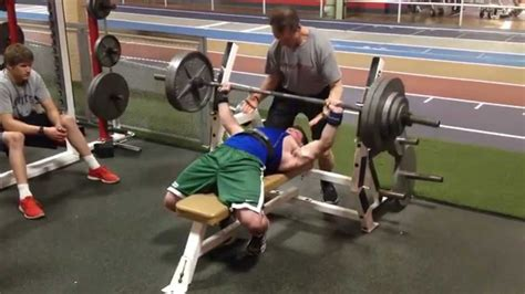 300 Lb Bench Press  17 Years Old At 170 Lb Body Weight