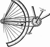 Chain Link Bicycle Drawing Sketch Template sketch template