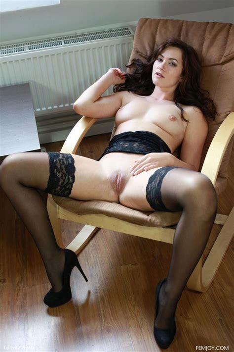 Tess Lyndon Teasing In Black Stockings