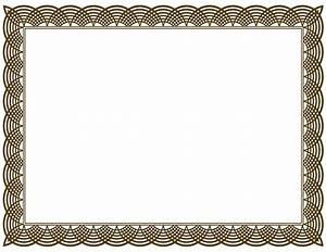 blank certificate border template mathmarkstrainonescom With borderless certificate templates