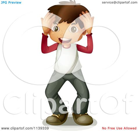 free royalty free clipart of a surprised boy royalty free vector clipart
