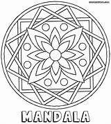 Mandala Coloring Pages Flower sketch template