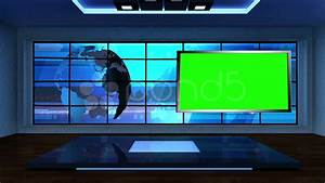 News TV Studio Set 09 - Virtual Green Screen Background ...