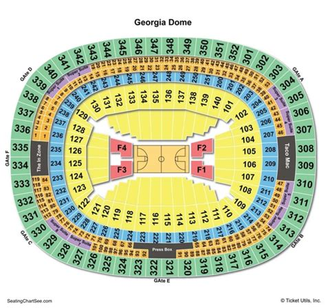 Georgia Dome Seating Chart   Seating Charts & Tickets