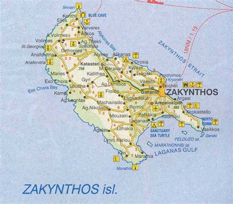 greece map  zakynthos greek islands