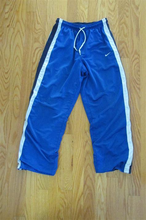 nike boys size   athletic pants royal blue reversible