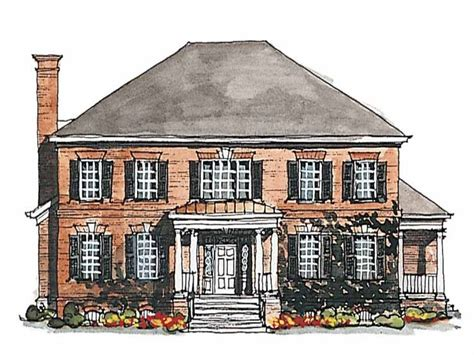 georgian house plans georgian house plan with 3380 square and 4 bedrooms s