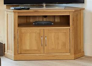 Baumhaus Mobel Oak Corner TV Cabinet Up To 40 Sales Now On