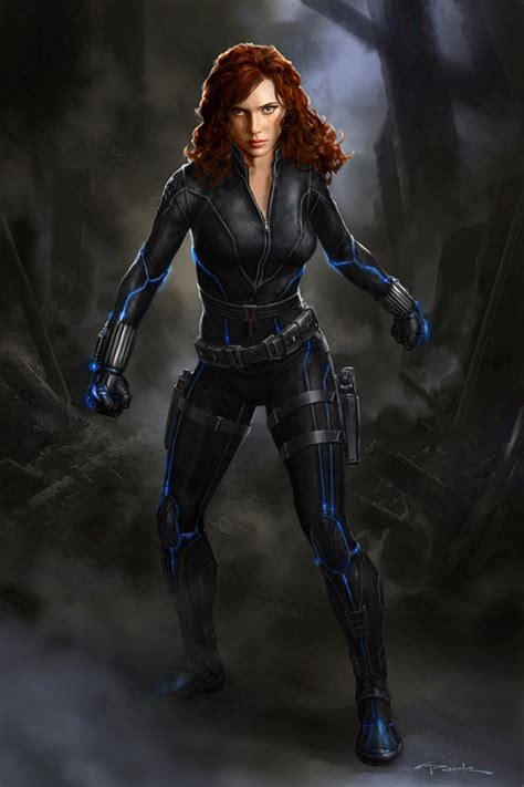 Image Andyparkart The Avengers Black Widow Large