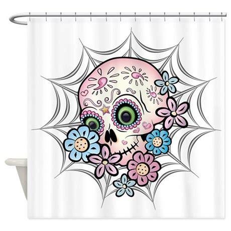 sugar skull shower curtain sweet sugar skull shower curtain by bonesofsociety