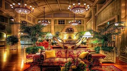 Luxury Hotel Wallpapers Lobby Hotels Anime Chandeliers