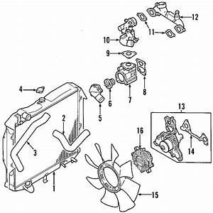 2003 Mitsubishi Montero Sport Radiator  Radiator Assembly