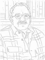 Coloring Writer Poet Printable sketch template