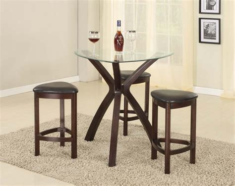 dining table with stools pub style dining room sets with round glass top dining