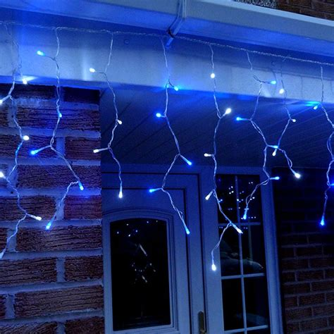 led icicle lights reviews 3 metre led icicle lights in blue white connectable