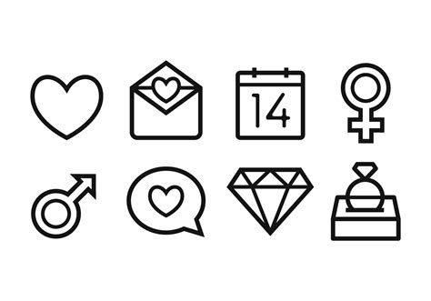 wedding icon set   vector art stock