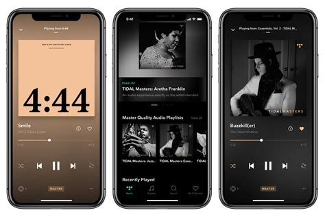 tidal s master quality recordings are now available on ios