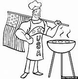 Coloring Patriotic Grill Bbq Desenhos Flag Colorir Churrasco Usa Apron Ii Break Imprimir sketch template