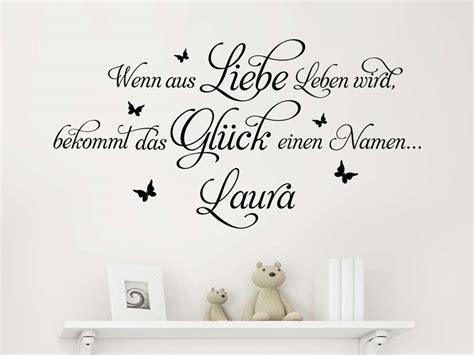 Wandtattoo Kinderzimmer Spruch by Wandtattoo Spruch Wenn Aus Liebe Klebeheld 174 De