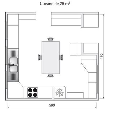 plans de cuisine plan de cuisine l 39 aménager de 1m2 à 32m2