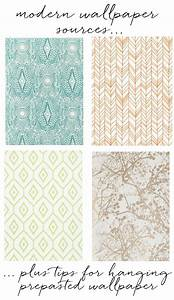 modern wallpaper sources + tips for hanging prepasted ...