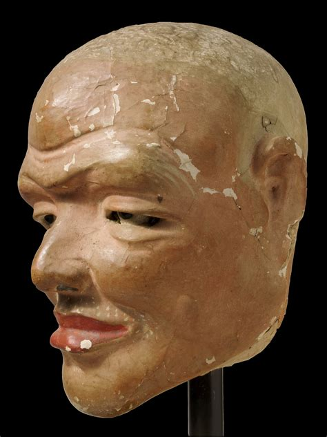 A Chinese Song Dynasty Stucco Head Of A Luohan   Lotus