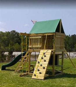 Summit Swing Set  10 Ft Wave Slide  Rock Climbing Wall  2 Ladders  2 B  U2013 The Swingset Co