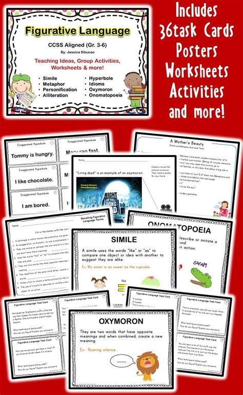 Figurative Language: Common Core aligned pack. This will ...