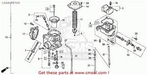 1999 Honda Fourtrax 300 Carburetor Diagram