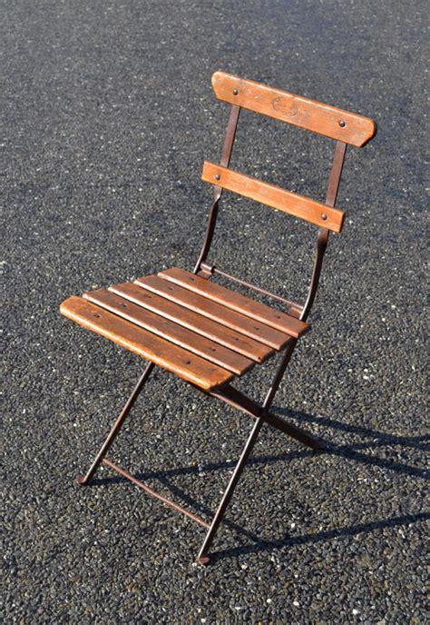chaise bistro pliante ancienne