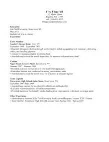 resume for a waiter restaurant waiter resume sle