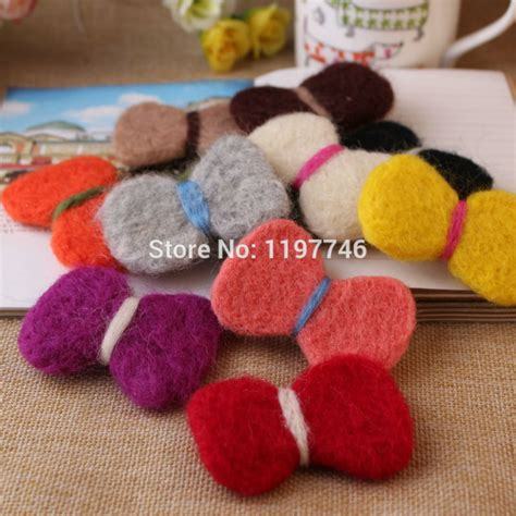 Fashion Handmade Wool Felt Ball Bow Knot Bowtie For