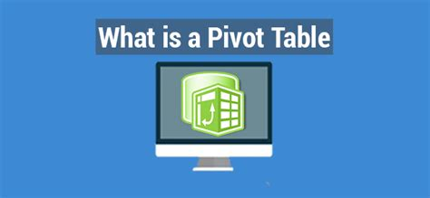 what s a pivot table what is a pivot table in excel make a pivot table manually