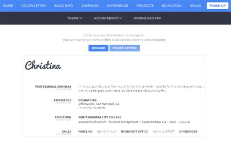 Free Resume Builder Tool by 6 Free Resume Builder Tools To Help Rev Your Resume