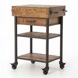 Industrial, Reclaimed, Wood, Rolling, Kitchen, Island, Cart