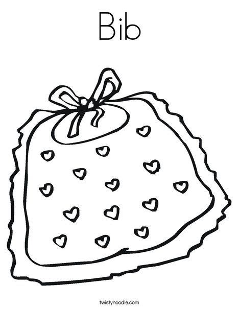 bib coloring page twisty noodle projects