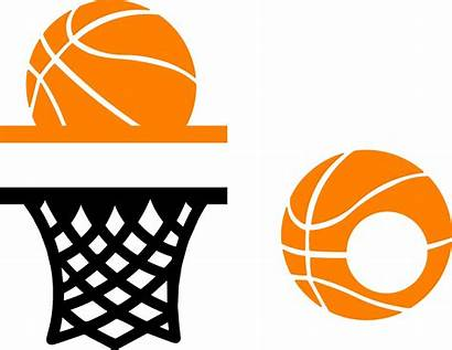 Basketball Monogram Cricut Clipart Sports Silhouette Cut