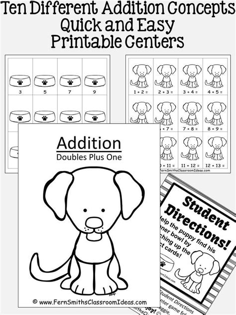 addition strategies ten quick  easy  prep math center