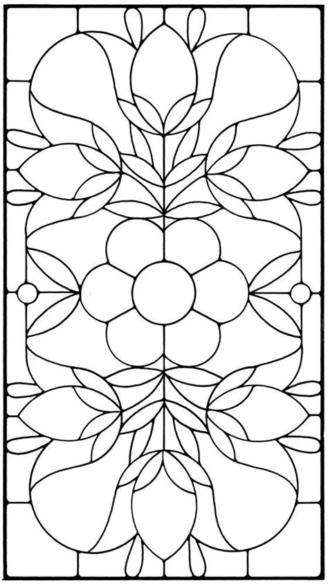 floral stained glass pattern book stained glass panels