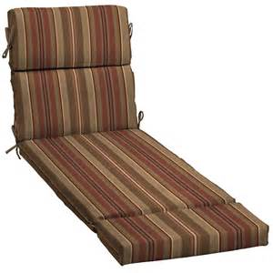 shop stripe chili patio chaise lounge cushion at lowes