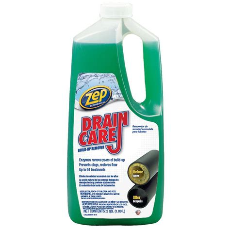 p traps for showers zep 64 oz drain build up remover of 8 zldc648