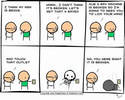 Comic Funny Comics Broke Arm Think Funniest