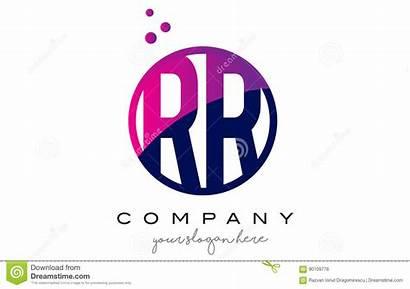 Letter Rh Rr Circle Purple Dots Kg