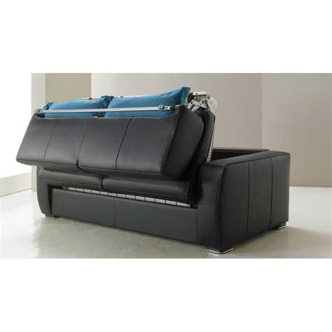 canap lit en cuir canapé lit rapido en cuir de vachette pas cher