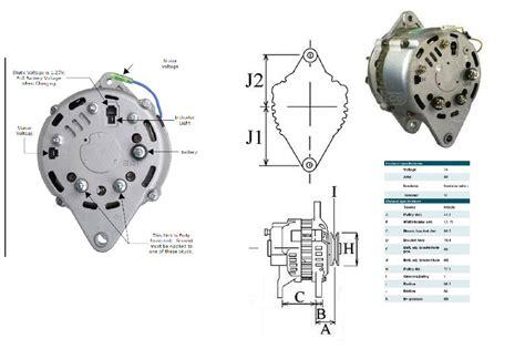Hitachi Alternator Wiring Diagram by New 80 Alternator For Yanmar Marine New Alternator