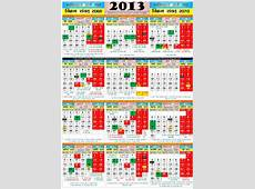 Multipurpose coloured Calendar2013 with Gazetted