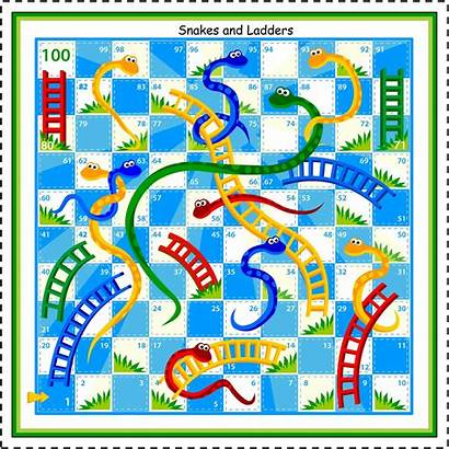 Printable Board Games Ladders Snakes Coloring Pages