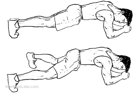 Modified Bicycle Exercise by Plank Jacks Extended Leg Workoutlabs